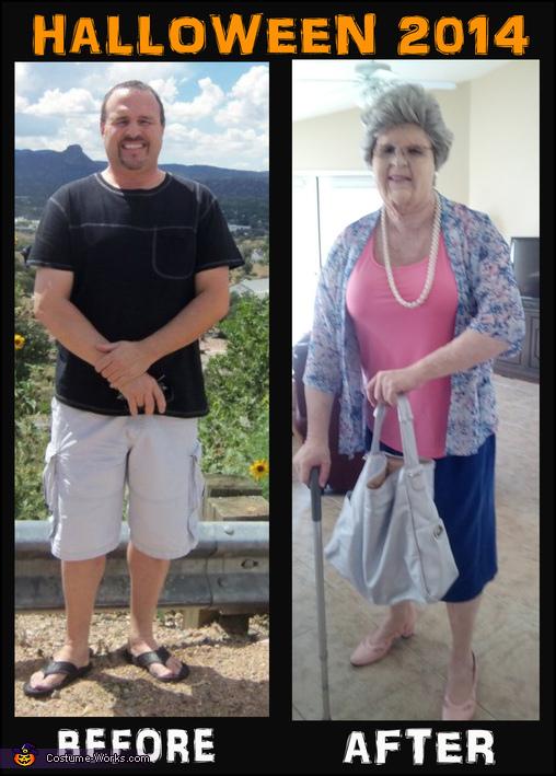 Grandma, before and after, Grandma Costume