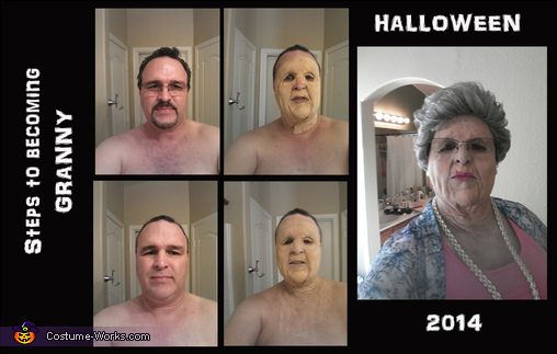 The transformation from dude to grandma!, Grandma Costume