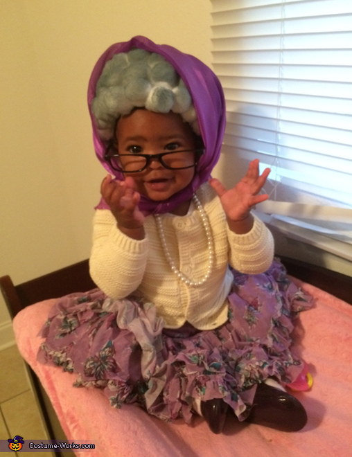 9 month old grandma, Grandma Costume