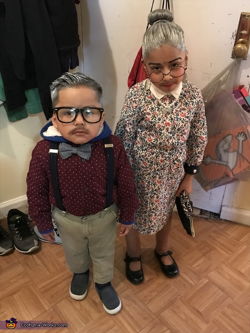 Grandma & Grandpa Homemade Costume