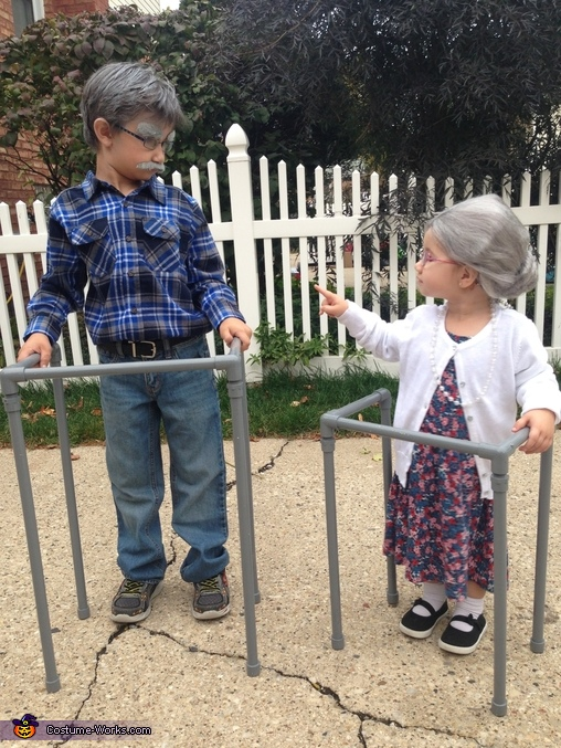 No, we are not too old to trick or treat!, Grandpa and Grandma Costume