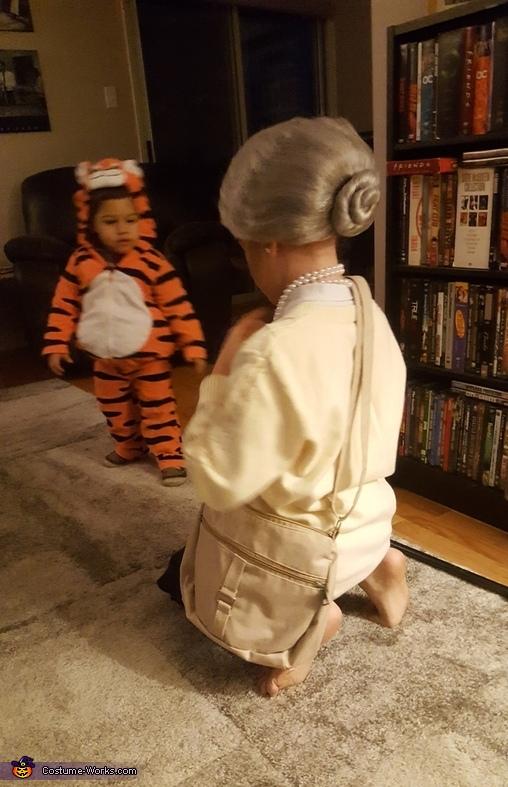 The Granny bun in the back was crucial!, Granny Costume