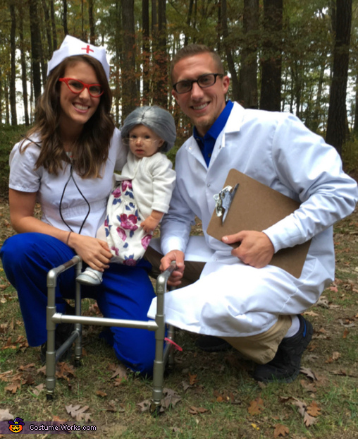 Granny with her Nurse & Doctor Costume