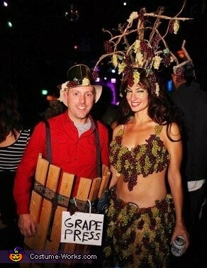 Grapes & Grape Press Costume