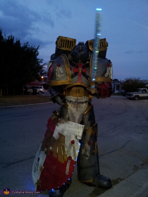 Lights on, Gray Knight Space Marine Costume