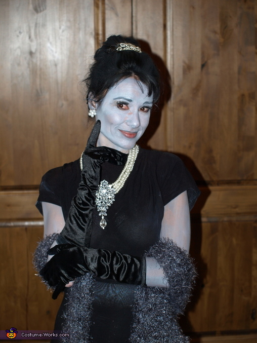 Grayscale and Color Breakfast at Tiffany's Costume