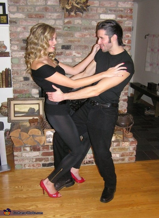 Danny and Sandy from Grease Couple's Costume