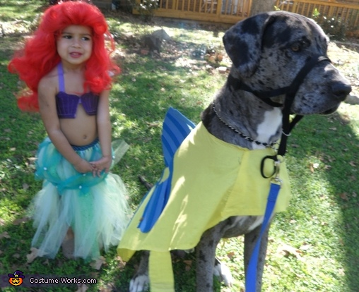 Always togther  Custom Great Dane Flounder Costume  sc 1 st  Costume Works : flounder costume toddler  - Germanpascual.Com