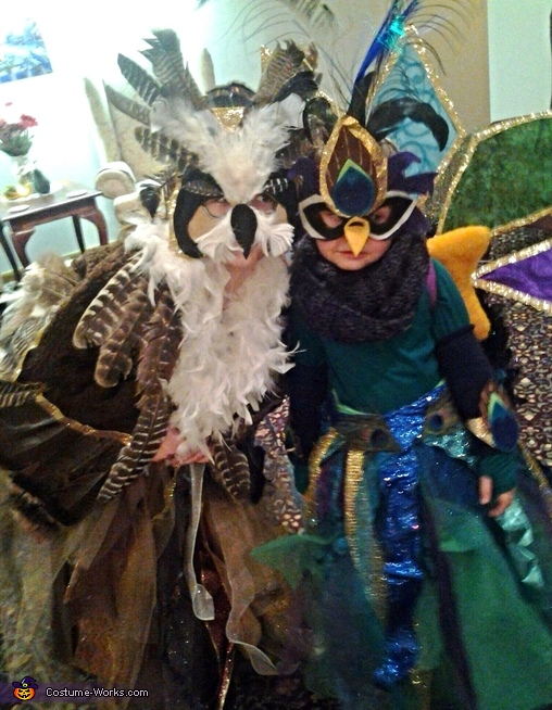 Great Horned Owl & Peacock Costumes