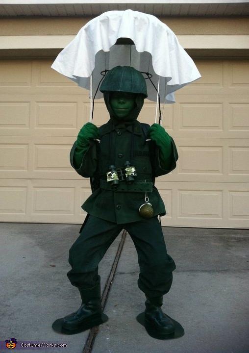 diy green army man costume