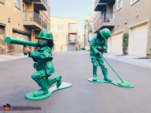 Green Army Men Homemade Costume