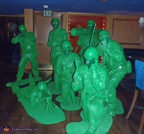 Green Army Men Group Costumes