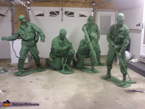 Green Army Men Group Costume