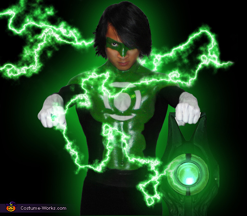 For those who worship evil`s might,  Beware my power!  Green Lantern's light!, Green Lantern Costume