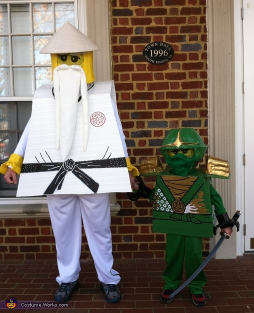 Ninjago: Lloyd the Green Ninja and Sensei Wu Costume