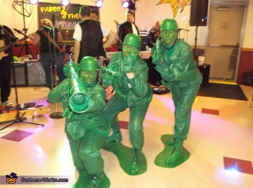 Green Toy Army Men Homemade Costume