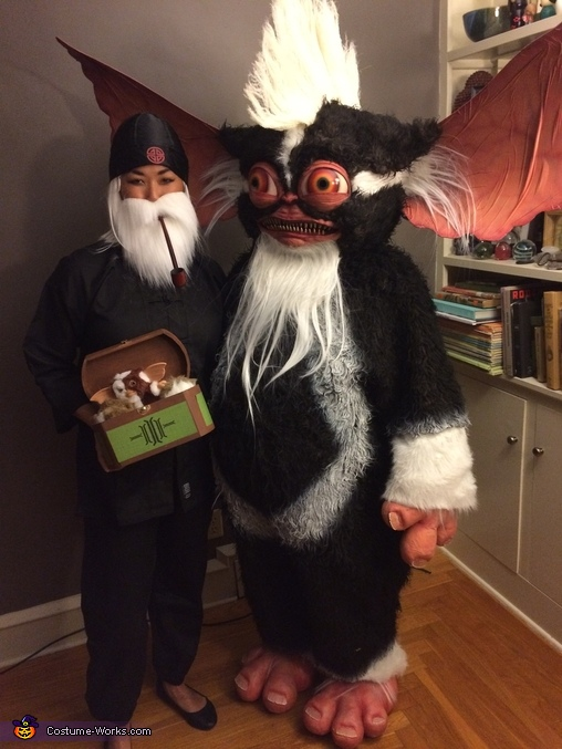 Mowhawk and Mr Wing w/ Gizmo, Mohawk Mogwai from Gremlins 2 Costume