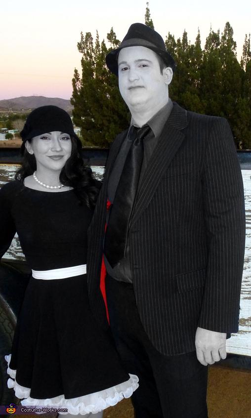 Greyscale 1950's Couple Homemade Costume