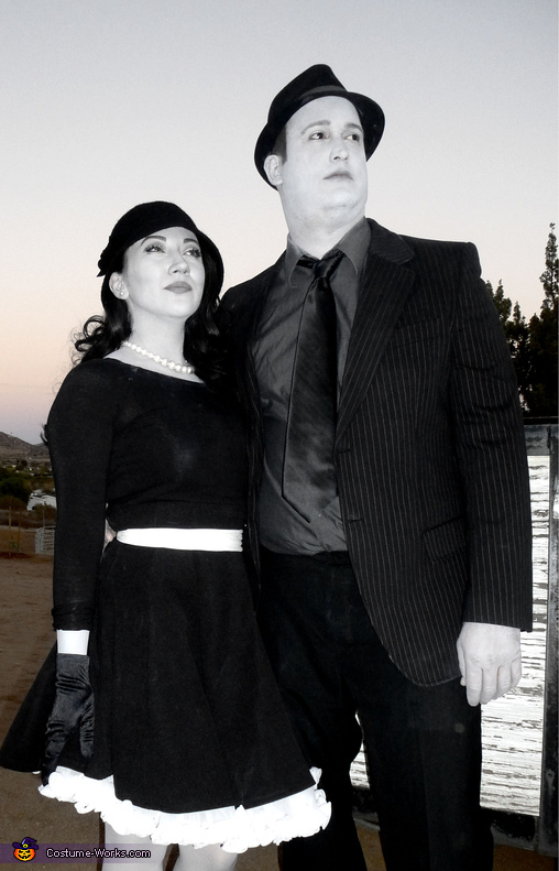Greyscale 1950's Couple Homemade Costume