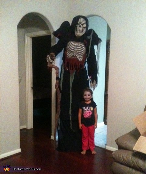 here is Charles Leflore with our daughter Ashlee, Grim Reaper Costume