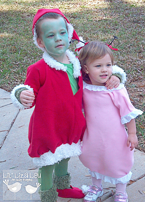 The Grinch and Cindy Lou Whoo sing together..., The Grinch and Cindy Lou Who Costumes