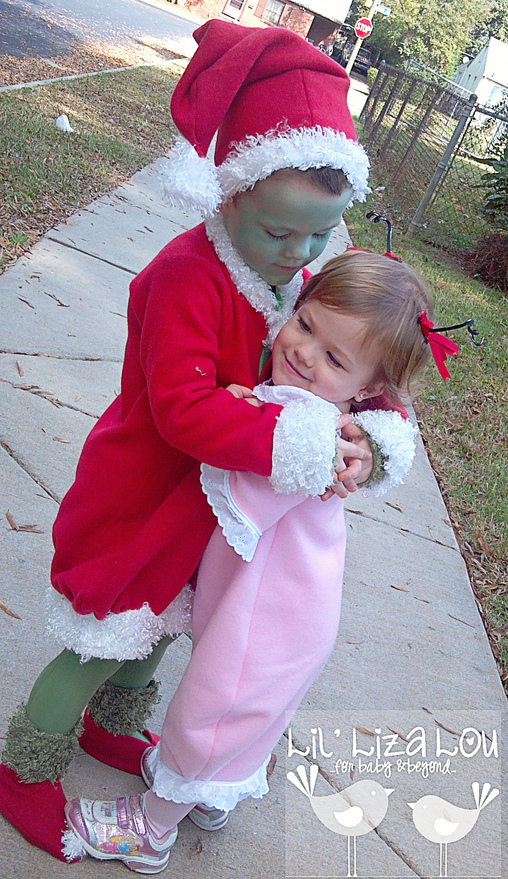 "Little Man's alternate ending... The Grinch and Cindy Lou Whoo ""get married"". , The Grinch and Cindy Lou Who Costumes"