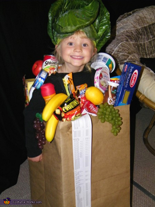 Bag of Groceries - Homemade costumes for girls