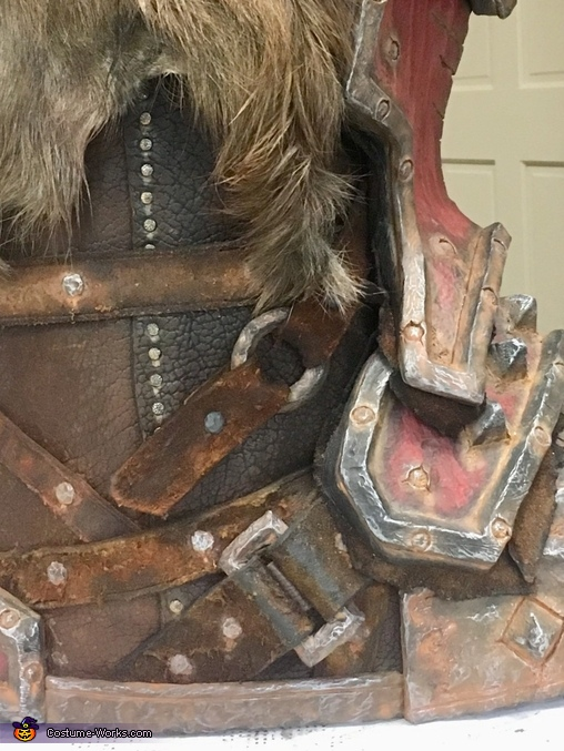 Close up of boot, Grommash Costume