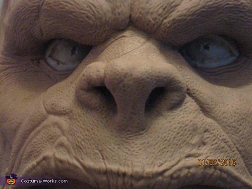 Monster clay face sculpt, Grommash Costume