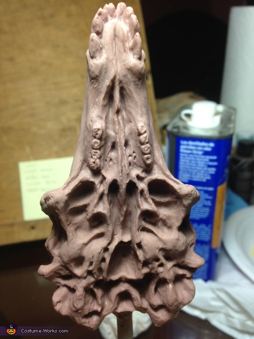 Back side of the necklace sculpt, Grommash Costume