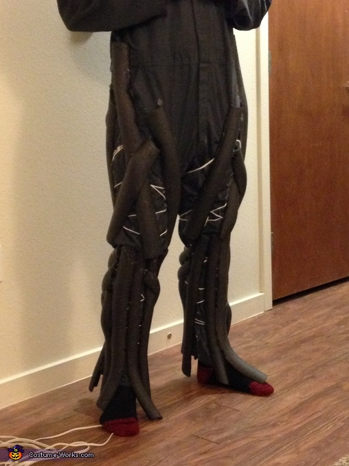Construction of the legs, Homemade Groot Costume