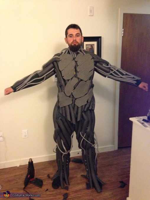 Body suite almost done, Homemade Groot Costume