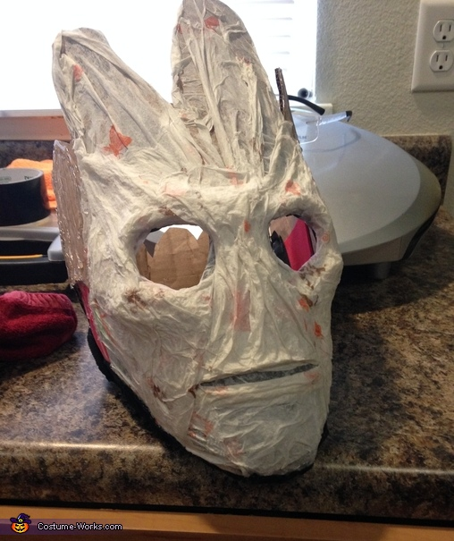 Mask pre-paint, Homemade Groot Costume
