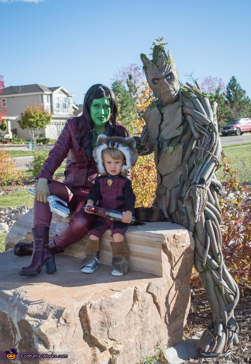 Guardians Family, Homemade Groot Costume