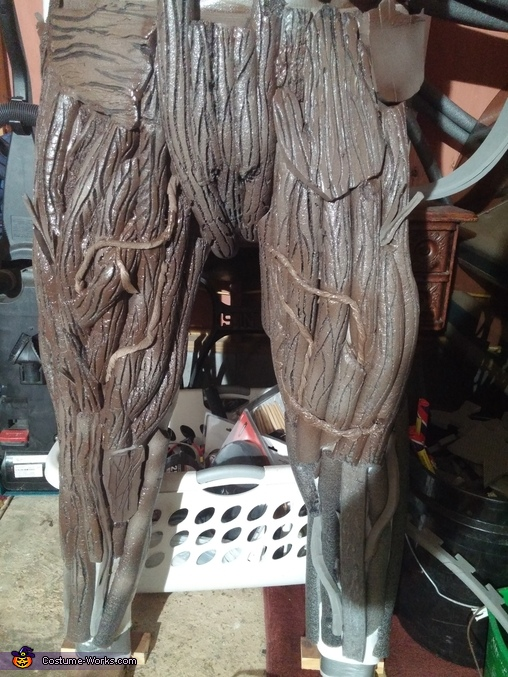 while working on the bottom, Groot Costume