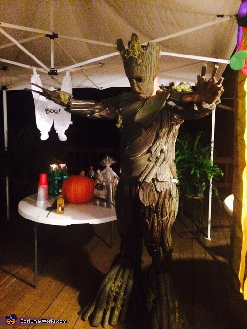 At a costume party, Groot Costume