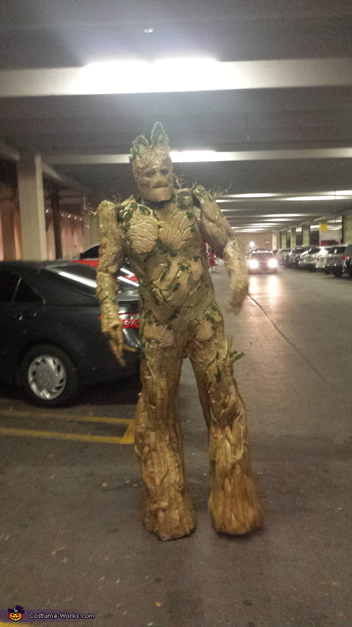 Homemade Groot Costume