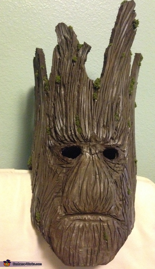 Groot's face, Guardians of the Galaxy Groot Costume