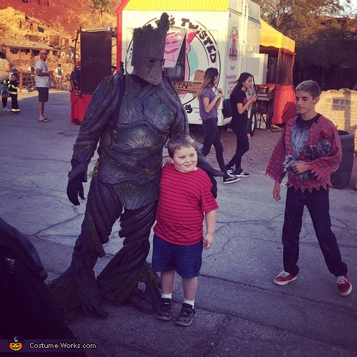 The kids loved him., Groot Costume