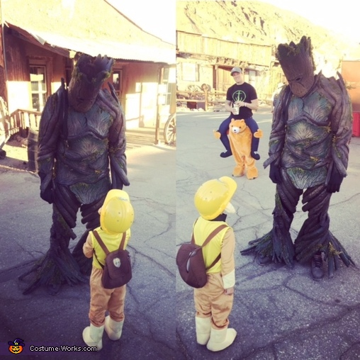 Making friends., Groot Costume