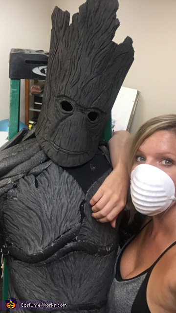 Groot in the process. This is the manikin, no one is in the costume yet!, Groot Costume