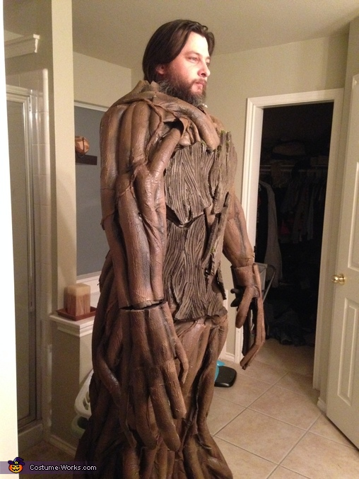 First fitting of the costume, Guardians of the Galaxy Groot Costume