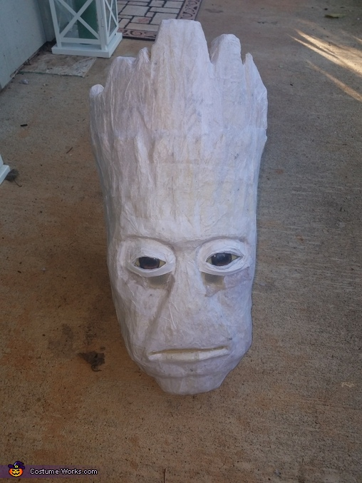 The Head before paint, Groot Costume