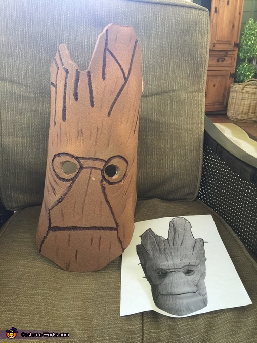 Meticulous masking, Groot and Rocket Costume