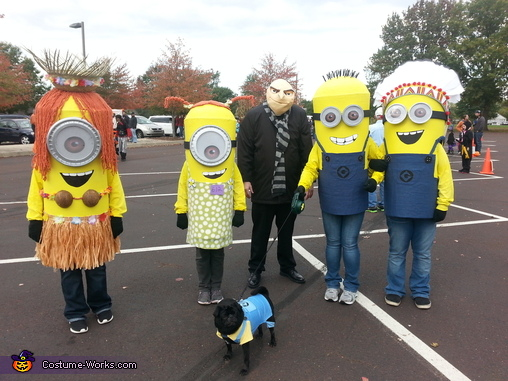 Gru and his Minions Group Costume