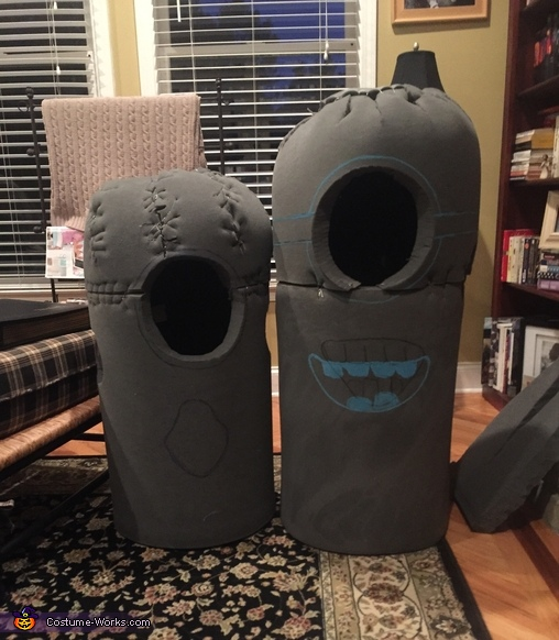 Foam design, Gru and Minions Costume