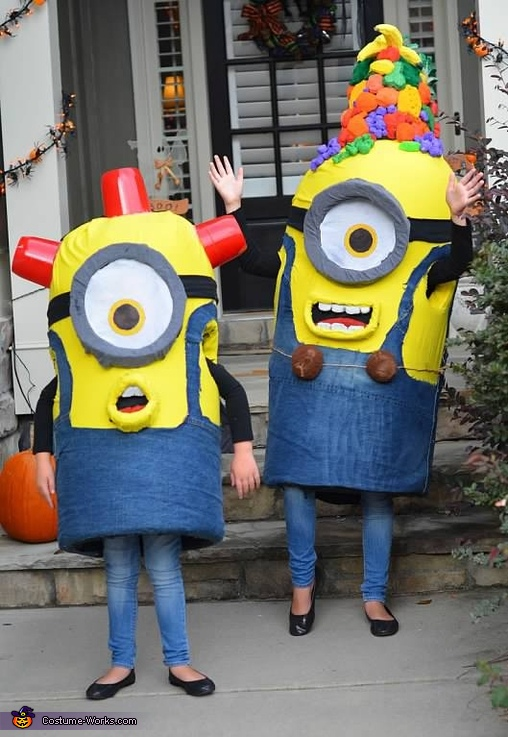 Finished girls, Gru and Minions Costume