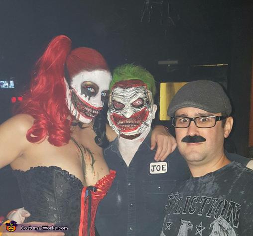 Gruesome Joker and Harley Quinn Homemade Costume
