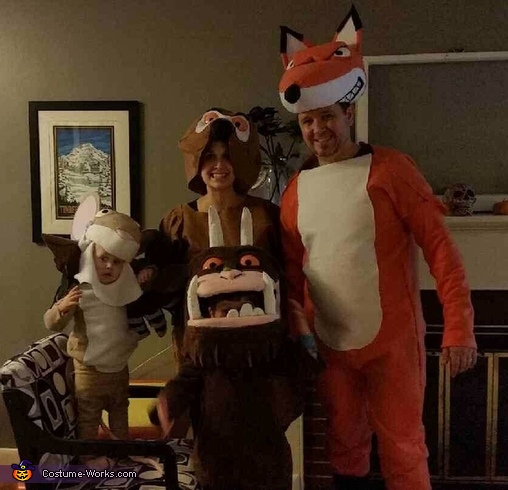 The Gruffalo family, Gruffalo Characters Costume