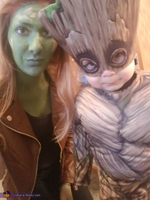 Gamora & Baby Groot, Guardians of the Galaxy Costume